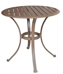 "Island Breeze Slatted Aluminum 30"" Bistro Dining Table"
