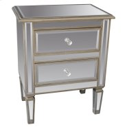 Eden Accent Table in Antique Silver Product Image
