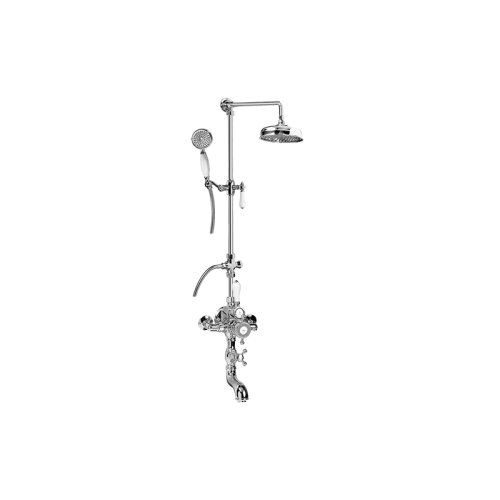 Exposed Thermostatic Tub and Shower System w/Handshower (Rough & Trim)