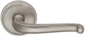 Interior Traditional Lever Latchset in (US15 Satin Nickel Plated, Lacquered)