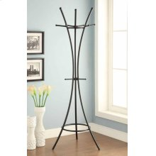 Modern Black Metal Coat Rack