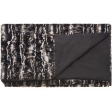 "Fur N9508 Black/silver 50"" X 70"" Throw Blankets"