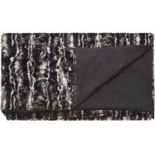 "Fur N9508 Black/silver 50"" X 70"" Throw Blankets"