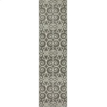 Fasney Ash Grey Runner 2ft 4in X 7ft 10in