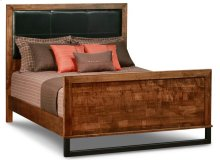 Cumberland Queen Bed With Fabric Headboard & High Footboard