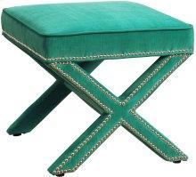 Reese Green Velvet Ottoman