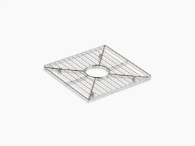 "Stainless Steel Stainless Steel Sink Rack, 13-3/16"" X 13-3/16"", for Kitchen and Bar Sinks"