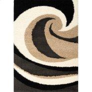Shaggy 1950 Beige Charcoal 2 x 4 Product Image