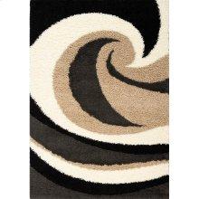 Shaggy 1950 Beige Charcoal 2 x 4