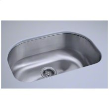 "Cinch® 26.4"" x 16.8"" x 9"" Undercounter D-Bowl Sink"
