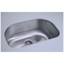 """Cinch® 26.4"""" x 16.8"""" x 9"""" Undercounter D-Bowl Sink"""