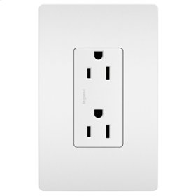Self-Grounding Duplex Receptacle, White