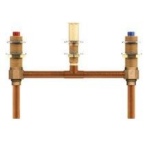 """two handle roman tub valve 10"""" center 1/2"""" cc connection"""