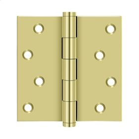 """4""""x 4"""" Square Hinges Residential / Zig-Zag - Polished Brass"""