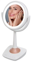Lighted Makeup Mirror, LED Makeup Mirror With Bluetooth 1x /5x Magnification, Double-sided Mirror Product Image