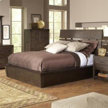 Promenade - Queen Slat Panel Footboard - Warm Cocoa Finish