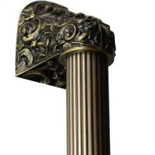 Acanthus - Antique Brass Fluted Bar