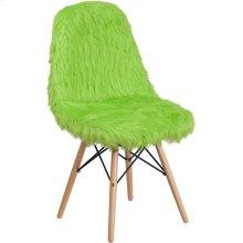 Shaggy Dog Fluorescent Green Accent Chair