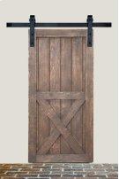 7' Barn Door Flat Track Hardware - Smooth Iron Basic Style Product Image