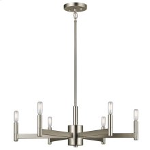 Erzo Collection Erzo 6 Light Chandelier in Satin Nickel