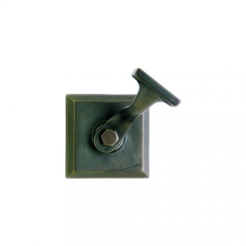 Square Handrail Bracket White Bronze Brushed