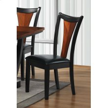 Boyer Transitional Amber and Black Side Chair