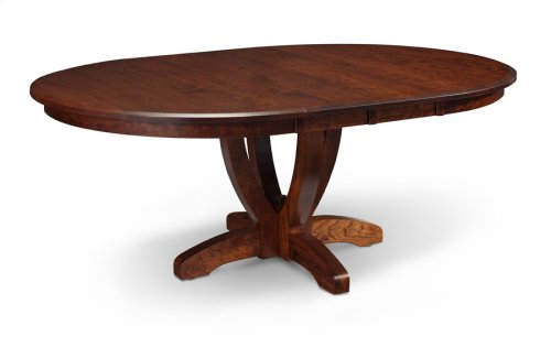 "Brookfield Single Pedestal Table, 18"" Butterfly Leaf"