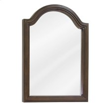 "22"" x 30"" Walnut reed-frame mirror with beveled glass"