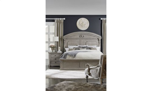 Arch Salvage Queen Chambers Panel Bed Set - Mist