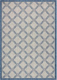 Country Side Ctr02 Ivory Blue Rectangle Rug 5'3'' X 7'3''