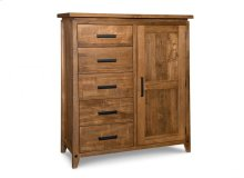 Pemberton 5 Drawer 1 Door Gentlemans Chest