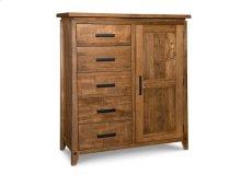 Pemberton 5 Drawer 1 Door Gentlemans Chest