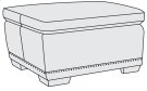 Prescott Ottoman in Mocha (751) Product Image