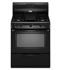 Black 4.4 cu. ft. Standard Clean Freestanding Gas Range