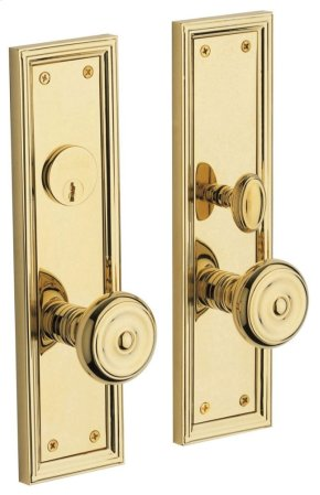 Non-Lacquered Brass Nashville Entrance Trim