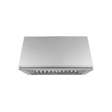 "Heritage 30"" Epicure Wall Hood, 12"" High, Silver Stainless Steel"