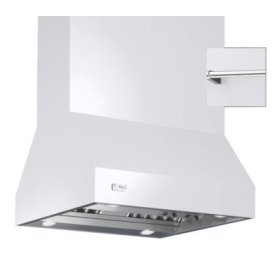 """42"""" Wide Island Hood, Chrome Accessory Rail on front and back"""