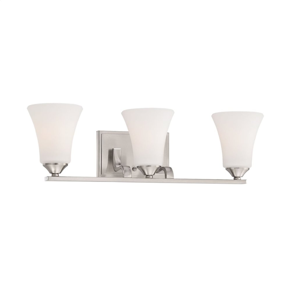 Treme 3-Light Wall Lamp in Brushed Nickel