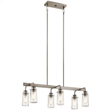 Braelyn Collection Braelyn Linear Chandelier 6 Light CLP