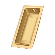 "Flush Pull, Large, 3-5/8""x 1-3/4""x 1/2"" - PVD Polished Brass"