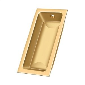 """Flush Pull, Large, 3-5/8""""x 1-3/4""""x 1/2"""" - PVD Polished Brass Product Image"""