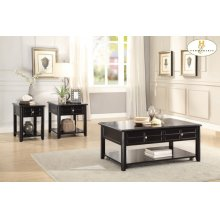 Chairside Table with Functional Drawer