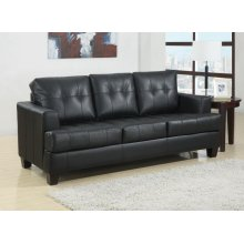 Samuel Transitional Black Sleeper Sofa