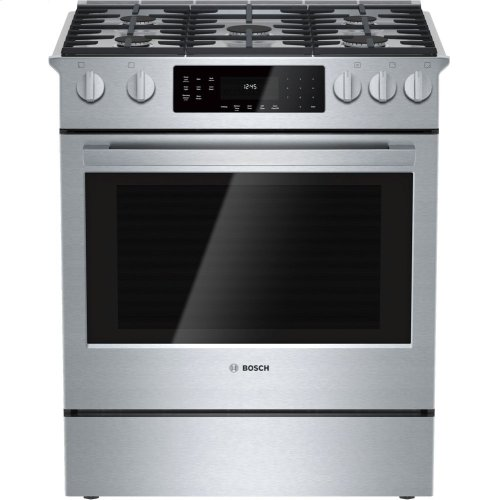 800 Series, All-Gas Slide-In Range in Stainless Steel **OPEN BOX** West Des Moines Location