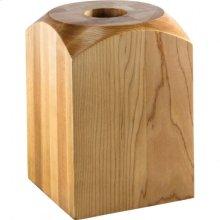 "5"" x 5"" x 7"" Fireplace Column Base e Hardware Resources, Inc. Species: Rubberwood"
