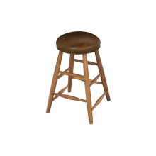Custom Plain Stool With Leather Seat