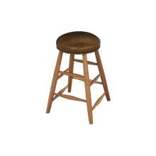 Custom Plain Stool With Leather Seat