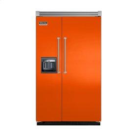 "Pumpkin 48"" Side-by-Side Refrigerator/Freezer with Dispenser - VISB (Integrated Installation)"