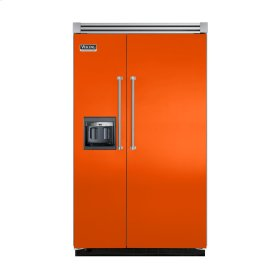 "Pumpkin 48"" Side-by-Side Refrigerator/Freezer with Dispenser - VISB (Integrated Installation)"