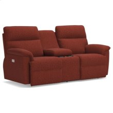 Jay PowerRecline La-Z-Time® Full Reclining Loveseat w/ Console and Power Headrest